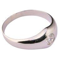 Unisex Diamond 0.28 carat ring Platinum 900 circa 1935