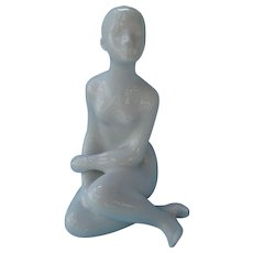 White Royal Dux Figurine Nude Girl