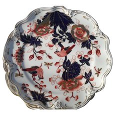 Rare Coalport Set of 8 Hong Kong Imari Sheffield Dessert Plates with Birds 10280