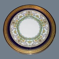 11 Antique Mintons Yellow Purple Turquoise Dessert Plates H3472