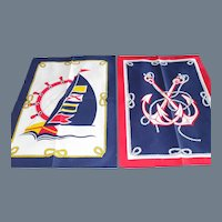 Pair New Vintage S.E.I.T Italy Cotton Nautical Theme Tea Towels