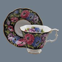 Royal Albert Bouquet Series Anemone Teacup and Saucer