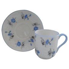 Miniature Shelley Blue Charm 13864 Teacup/Saucer