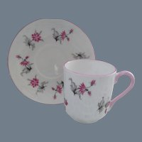 Miniature Shelley Pink Charm 13849 Teacup/Saucer