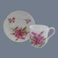 Miniature Shelley Pink Stocks 13428 Teacup/Saucer