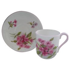 Miniature Shelley Pink Stocks 13428 Teacup/Saucer