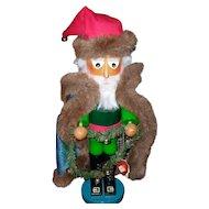 Steinbach Nutcracker Irish Santa Green Fur Coat Orig Box/Tag S 884