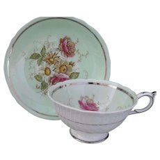 Paragon DW Queen Mary Pink Rose Teacup and Saucer