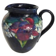 Elegant Moorcroft Iris on Cobalt Blue Pitcher Jug