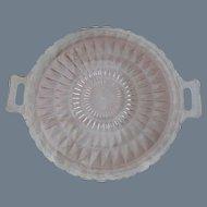Jeannette Pink Depression Glass Windsor Handled Plate
