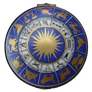 Outstanding Rochard Limoges Peint Main Zodiac Pill Box