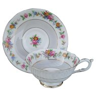 Early Paragon DW Queen Mary Pink Floral Rose Teacup and Saucer 66465