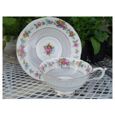 Paragon DW Queen Mary Pink Floral Rose Teacup and Saucer 66465
