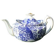 Large Royal Crown Derby Blue Mikado Teapot 5 Cup Capacity