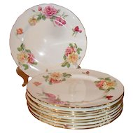 Gorgeous Hammersley Pink Yellow English Cabbage Tea Morgans Rose Dinner Plate 133