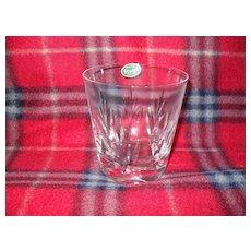 Stuart Crystal Kent Pattern Old Fashioned Glass Original Label
