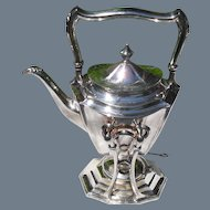 Antique Meriden Britannia Company Silver Tilt Spirit Kettle