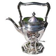 Antique Meriden Britannia Company Silverplated Tilt Spirit Kettle 1900