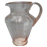 Large Pink Depression Glass Lemonade Pitcher