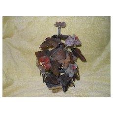 Antique Chinese Hardstone Jade Tree & Agate Flower Planter Pot Jardiniere