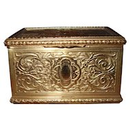 Tiffany Doux Propos Sweet Nothings Romantic Couple Brass Trinket Jewellery Box