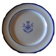 "Copeland Spode Blue Newburyport Dinner Plate Green Backstamp Y 3053 10"""
