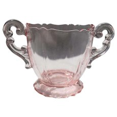 Vintage Cambridge Pink Depression Glass Open Sugar Bowl
