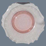 Vintage Cambridge Pink Depression Glass Plate