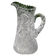 Heavy ABP Cut Glass Pitcher