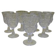 Set of Eight EAPG McKee Water Glass Argus Pattern 1859