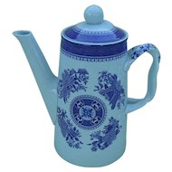 Copeland Spode Blue Fitzhugh Chinoiserie Coffee Pot