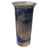 Antique W & R (Carlton Ware) Temple on Cobalt Blue Gold/Gilt Vase #1638