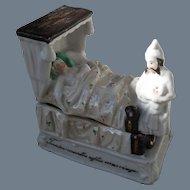 Antique Victorian Man, Woman, Baby Twelve Months After Marriage Fairing Box