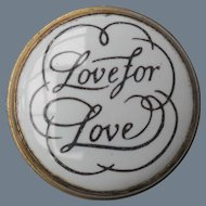 Sweet Crummles England Enamel Love for Love Trinket Pill Snuff Box