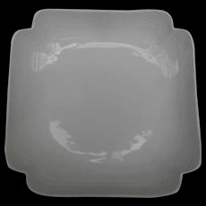 Herend White Porcelain Basketweave Square Serving Dish 181