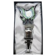 Murano Glass Butterfly Wine Stopper