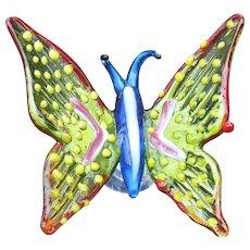 Murano Glass Multicolored Butterfly Wine Stopper