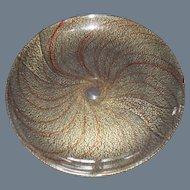 Venetian Italian Art Glass Copper and Gold Aventurine Plate Charger