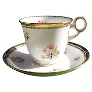 Royal Chelsea Asian Floral and Gold Teacup and Saucer