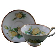 Beautiful Paragon Yellow Roses Teacup and Saucer
