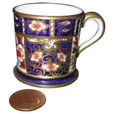 Early Miniature Royal Crown Derby Imari 2451 Tankard Mug 1902