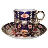 Vintage 1927 Royal Crown Derby Imari 2451 Espresso Cup and Saucer