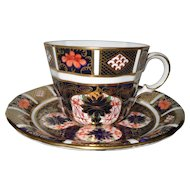 Vintage 1964 Royal Crown Derby Imari 1128 Teacup and Saucer