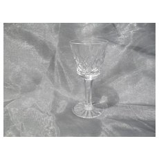 """Exquisite Brilliant Waterford Lismore Cut Crystal Stemmed 3 3/8"""" Port Glass"""