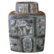 """Vintage Royal Copenhagen Denmark Fajence Nils Thorsson Vase 719/3121 7 1/2"""""""
