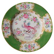 "Mintons Green Cockatrice Bread Plate 6"" Globe Backstamp 4863"
