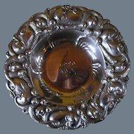 Antique Whiting Sterling Silver Art Nouveau Bon Bon Nut Bowl Dish