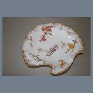 Antique Royal Crown Derby Aesthetic Floral Gilt Serving Plate 1891