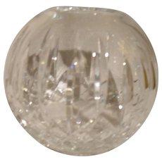 Elegant and Timeless Waterford Crystal Lismore Pattern Round Rose Bowl Vase