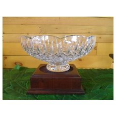 Large Waterford Statement Centerpiece Crystal Lismore Footed Bowl and Stand